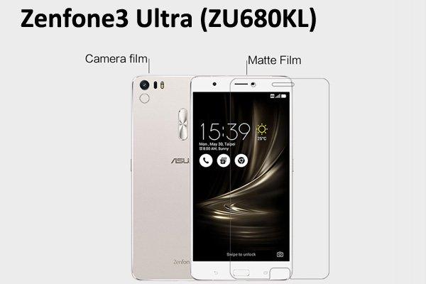 【ネコポス送料無料】Zenfone3 Ultra (ZU680KL) 液晶保護フィルムセット アンチグレアタイプ [1]