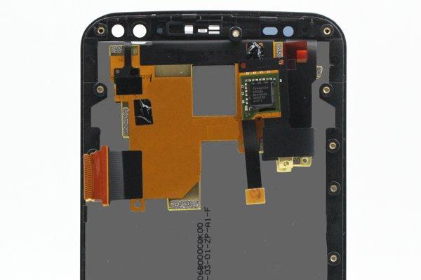 Motorola Moto X Style (XT1572) フロントパネルASSY 交換修理 ブラック [4]