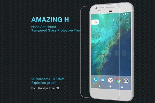【ネコポス送料無料】Google Pixel XL 強化ガラスフィルム ナノコーティング 硬度9H [1]
