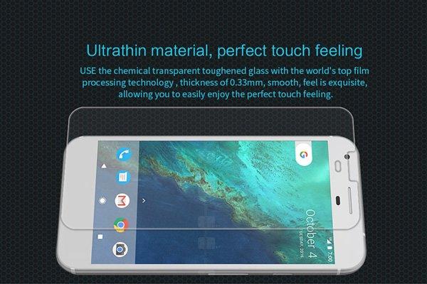 【ネコポス送料無料】Google Pixel XL 強化ガラスフィルム ナノコーティング 硬度9H [3]