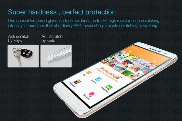 【ネコポス送料無料】Zenfone3 (ZE520KL) 強化ガラスフィルム ナノコーティング 硬度9H [2]