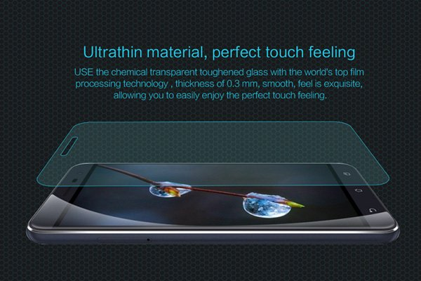 【ネコポス送料無料】Zenfone3 (ZE520KL) 強化ガラスフィルム ナノコーティング 硬度9H [3]