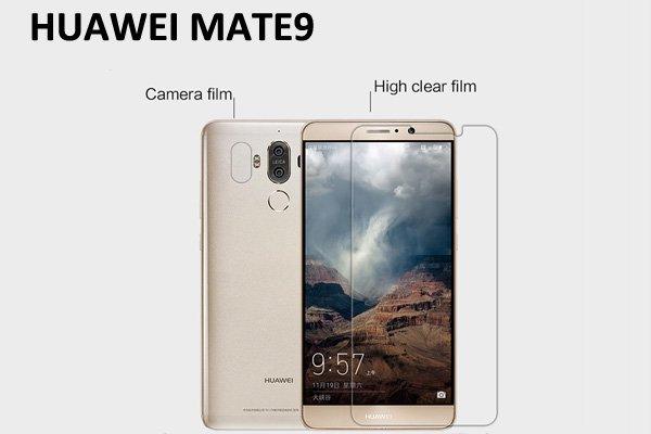 【ネコポス送料無料】Huawei Mate9 液晶保護フィルムセット クリスタルクリアタイプ [1]