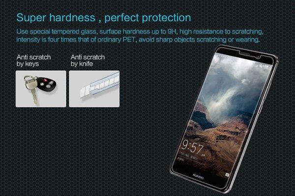 【ネコポス送料無料】Huawei Mate9 強化ガラスフィルム ナノコーティング 硬度9H  [2]