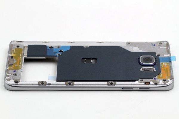 【ネコポス送料無料】Galaxy Note5 (SM-N920) ミドルケースASSY シルバー [6]