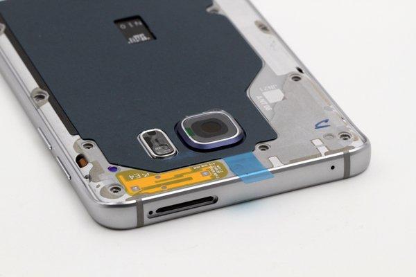 【ネコポス送料無料】Galaxy Note5 (SM-N920) ミドルケースASSY シルバー [7]