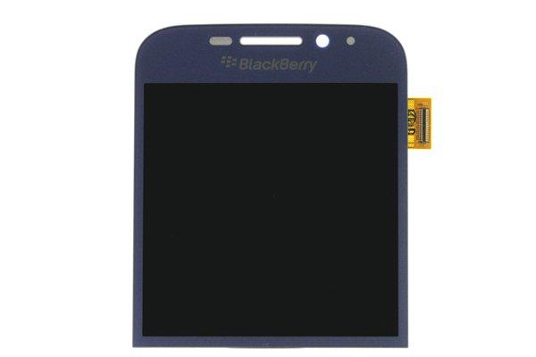 Blackberry Classic (Q20) フロントパネル交換修理 ブルー [1]