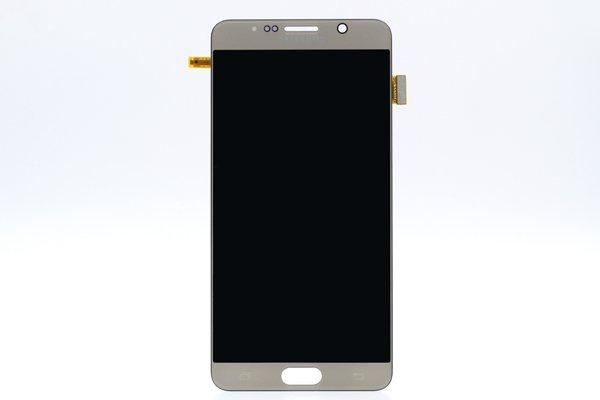 Galaxy Note5 (SM-N9200) フロントパネル ゴールド [1]