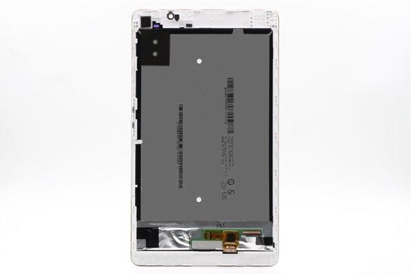 Huawei MediaPad M2-803L(dtab Compact d-02H)フロントパネルASSY 交換修理 ホワイト [2]