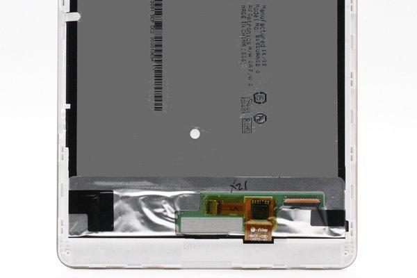 Huawei MediaPad M2-803L(dtab Compact d-02H)フロントパネルASSY 交換修理 ホワイト [3]