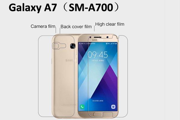 【ネコポス送料無料】Galaxy A7 (SM-A700) 液晶保護フィルムセット クリスタルクリア  [1]