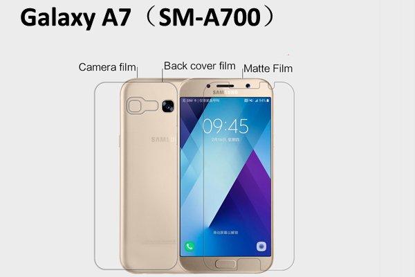 【ネコポス送料無料】Galaxy A7 (SM-A700) 液晶保護フィルムセット アンチグレア [1]