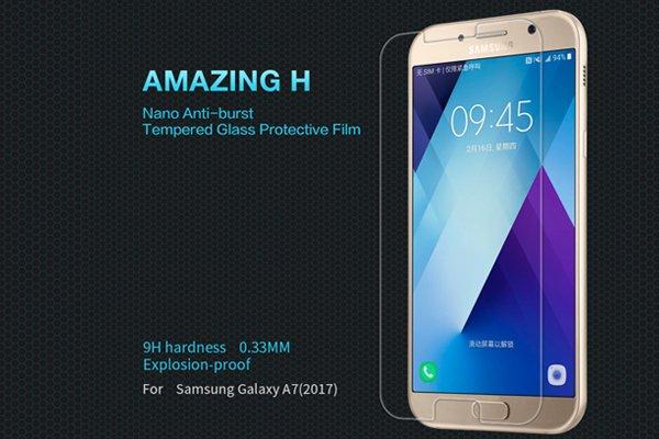 【ネコポス送料無料】Galaxy A7 (SM-A700) 強化ガラスフィルム ナノコーティング 硬度9H  [1]