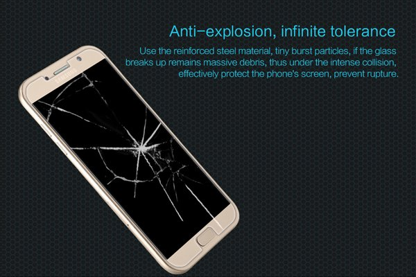 【ネコポス送料無料】Galaxy A7 (SM-A700) 強化ガラスフィルム ナノコーティング 硬度9H  [2]