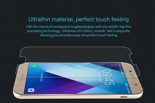 【ネコポス送料無料】Galaxy A7 (SM-A700) 強化ガラスフィルム ナノコーティング 硬度9H  [3]