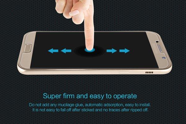 【ネコポス送料無料】Galaxy A7 (SM-A700) 強化ガラスフィルム ナノコーティング 硬度9H  [5]