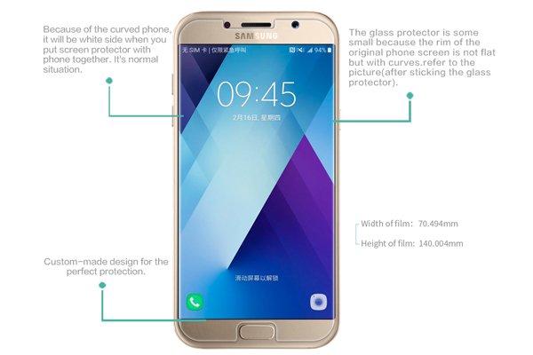 【ネコポス送料無料】Galaxy A7 (SM-A700) 強化ガラスフィルム ナノコーティング 硬度9H  [7]