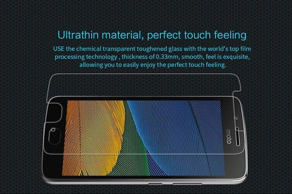 【ネコポス送料無料】MOTOROLA Moto G5 強化ガラスフィルム ナノコーティング 硬度9H [2]