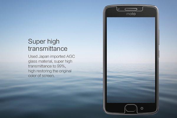 【ネコポス送料無料】MOTOROLA Moto G5 強化ガラスフィルム ナノコーティング 硬度9H [3]