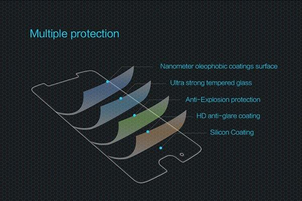 【ネコポス送料無料】MOTOROLA Moto G5 強化ガラスフィルム ナノコーティング 硬度9H [6]