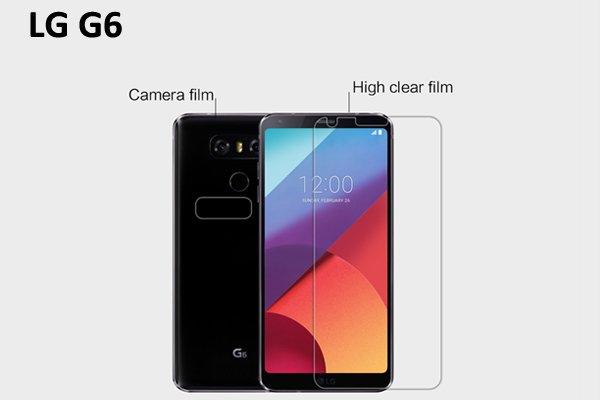 【ネコポス送料無料】LG G6 液晶保護フィルムセット クリスタルクリアタイプ  [1]