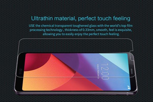 【ネコポス送料無料】LG G6 強化ガラスフィルム ナノコーティング 硬度9H  [2]