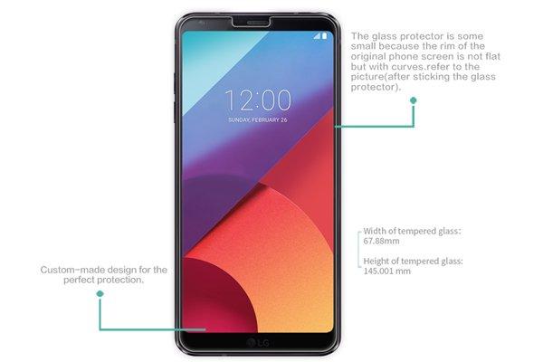 【ネコポス送料無料】LG G6 強化ガラスフィルム ナノコーティング 硬度9H  [7]