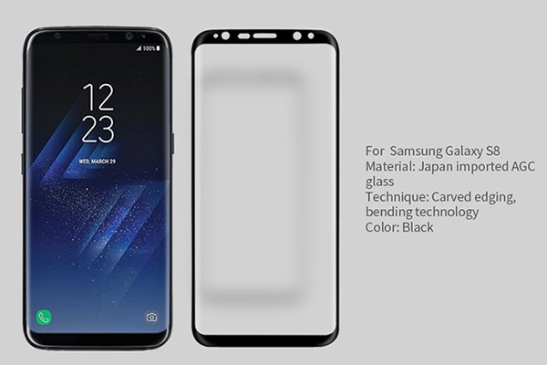【ネコポス送料無料】Galaxy S8 強化ガラスフィルム ナノコーティング 硬度9H