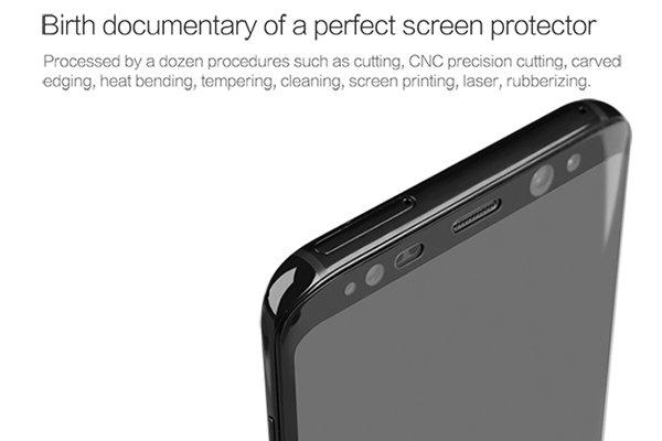 【ネコポス送料無料】Galaxy S8 強化ガラスフィルム ナノコーティング 硬度9H [4]