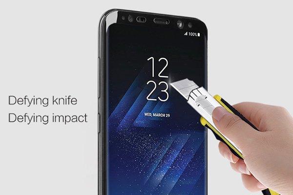 【ネコポス送料無料】Galaxy S8 強化ガラスフィルム ナノコーティング 硬度9H [6]
