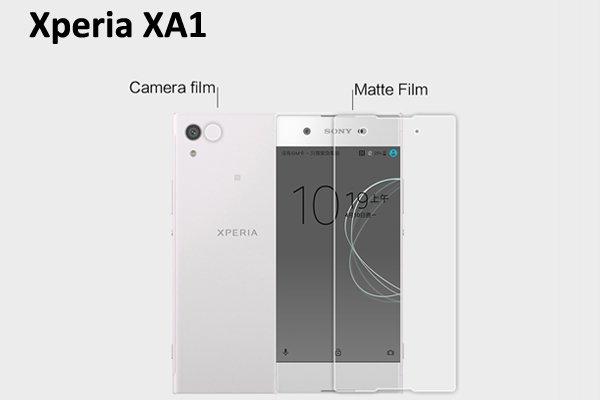 【ネコポス送料無料】Xperia XA1 液晶保護フィルムセット アンチグレアタイプ  [1]
