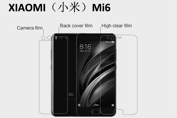 【ネコポス送料無料】XIAOMI(小米) Mi6 液晶保護フィルムセット クリスタルクリアタイプ
