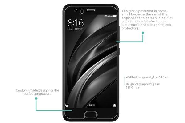 【ネコポス送料無料】Xiaomi (小米) Mi6 強化ガラスフィルム ナノコーティング 硬度9H  [7]