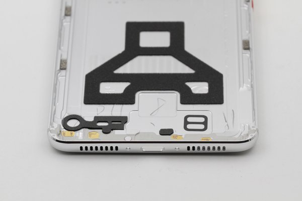 【ネコポス送料無料】Huawei Mate9 背面カバーASSY シルバー [8]
