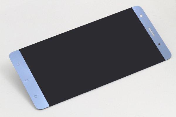 Zenfone3 Deluxe(ZS570KL)フロントパネル 修理 ブルー [5]