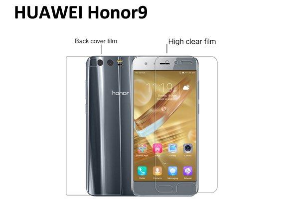 【ネコポス送料無料】Huawei Honor 9 液晶保護フィルムセット クリスタルクリアタイプ  [1]