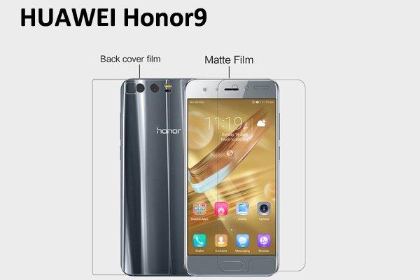 【ネコポス送料無料】Huawei Honor 9 液晶保護フィルムセット アンチグレアタイプ  [1]