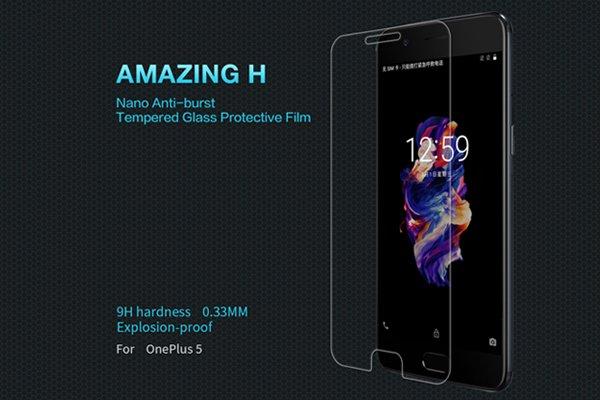 【ネコポス送料無料】OnePlus 5 強化ガラスフィルム ナノコーティング 硬度9H [1]