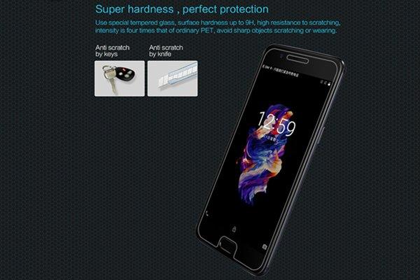 【ネコポス送料無料】OnePlus 5 強化ガラスフィルム ナノコーティング 硬度9H [2]