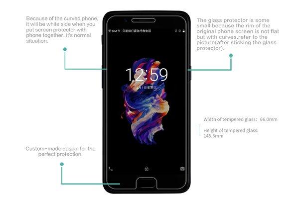 【ネコポス送料無料】OnePlus 5 強化ガラスフィルム ナノコーティング 硬度9H [7]