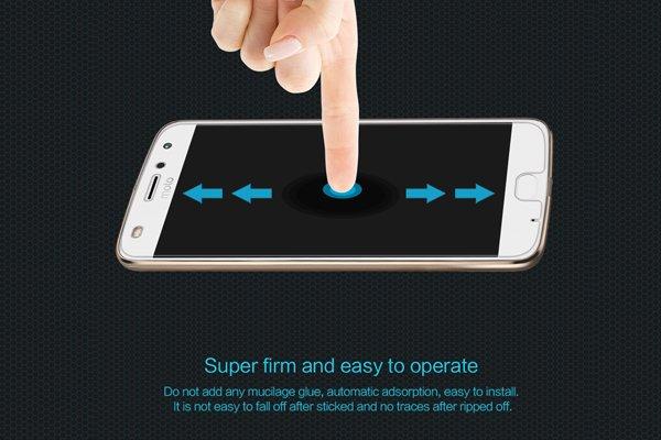 【ネコポス送料無料】Motorola Moto Z2 Play 強化ガラスフィルム ナノコーティング 硬度9H [4]