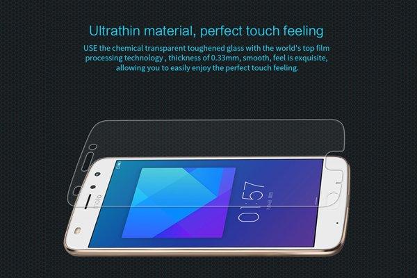 【ネコポス送料無料】Motorola Moto Z2 Play 強化ガラスフィルム ナノコーティング 硬度9H [5]