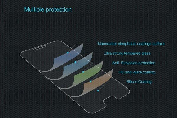 【ネコポス送料無料】Motorola Moto Z2 Play 強化ガラスフィルム ナノコーティング 硬度9H [6]