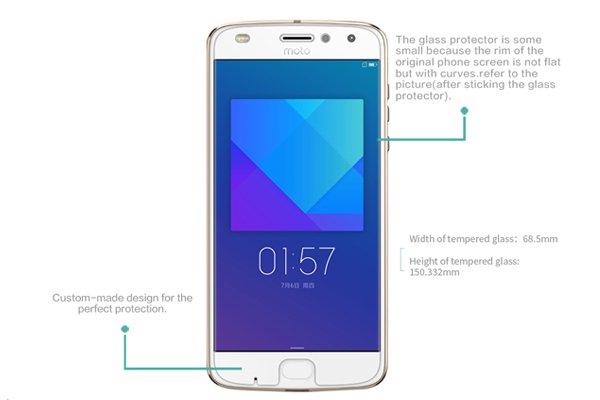 【ネコポス送料無料】Motorola Moto Z2 Play 強化ガラスフィルム ナノコーティング 硬度9H [7]
