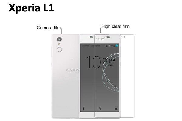 【ネコポス送料無料】Xperia L1 液晶保護フィルムセット クリスタルクリアタイプ  [1]