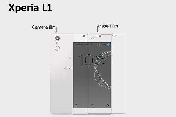 【ネコポス送料無料】Xperia L1 液晶保護フィルムセット アンチグレアタイプ  [1]
