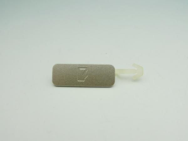 【ネコポス送料無料】NOKIA N82 SDスロットカバー シルバー  [1]