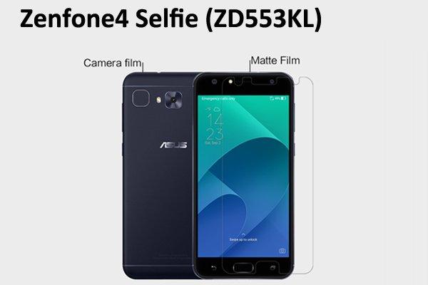 【ネコポス送料無料】Zenfone4 Selfie (ZD553KL) 液晶保護フィルムセット アンチグレアタイプ [1]