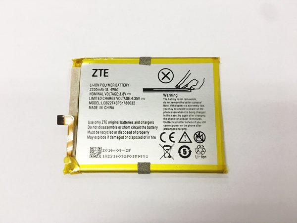 【ネコポス送料無料】ZTE Blade V6 バッテリー(Li3822T43P3h786032)2200mAh [1]