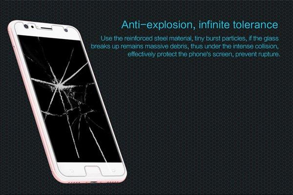 【ネコポス送料無料】Zenfone4 Selfie (ZD553KL) 強化ガラスフィルム ナノコーティング 硬度9H [2]
